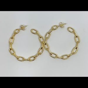 Jewelry - chain link hoops